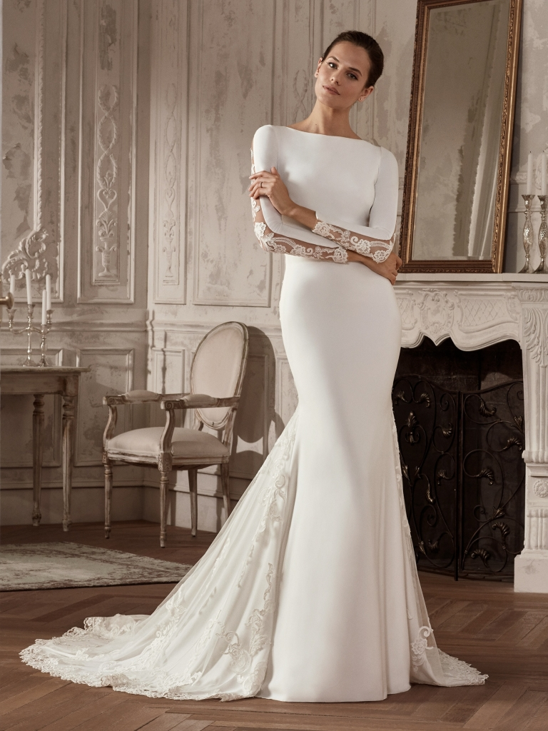 San Patrick Brautkleid /'Rambla/' Taft A-Linie creme ivory Hochzeit